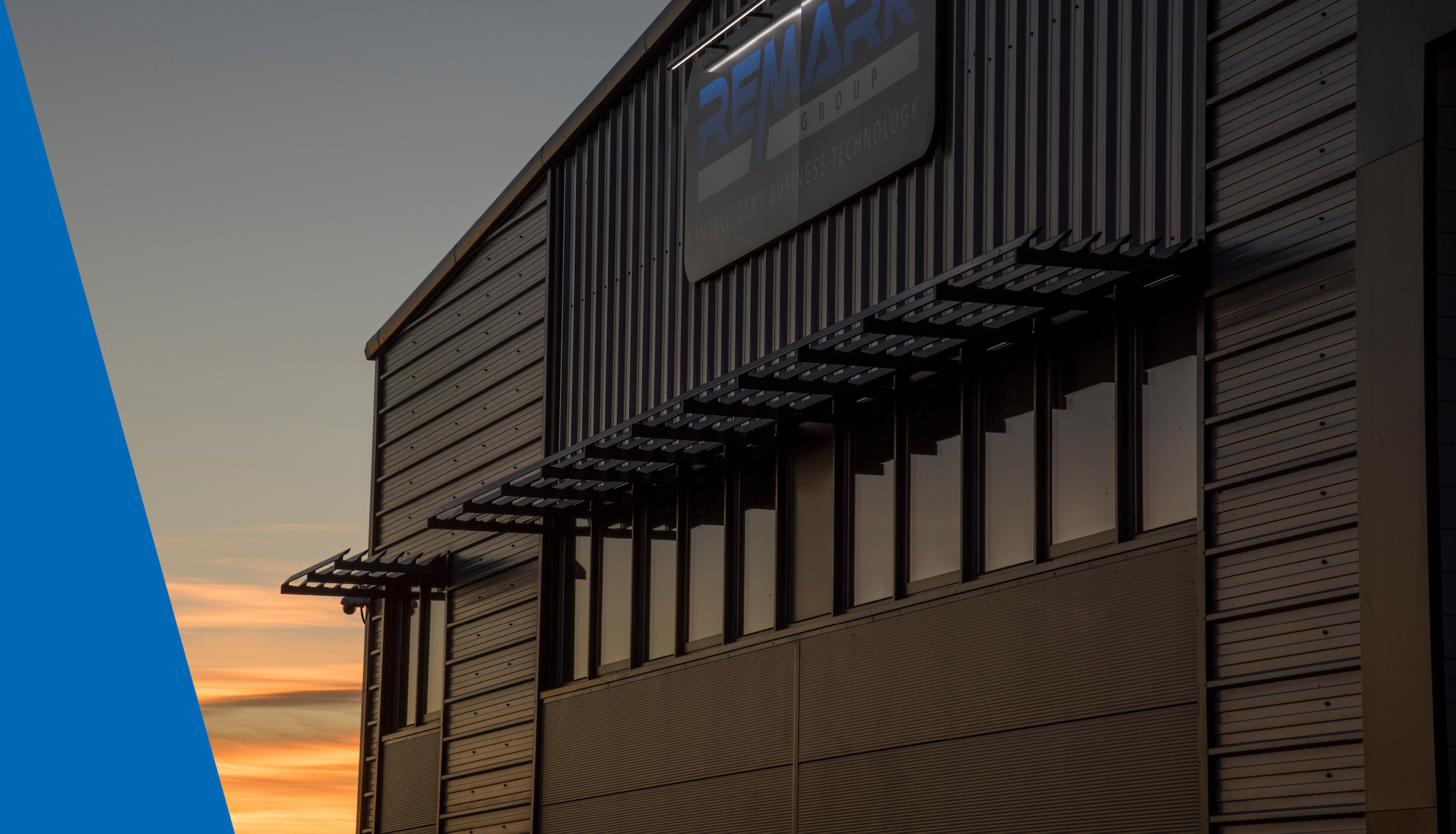 Remark Group Building at Sunset