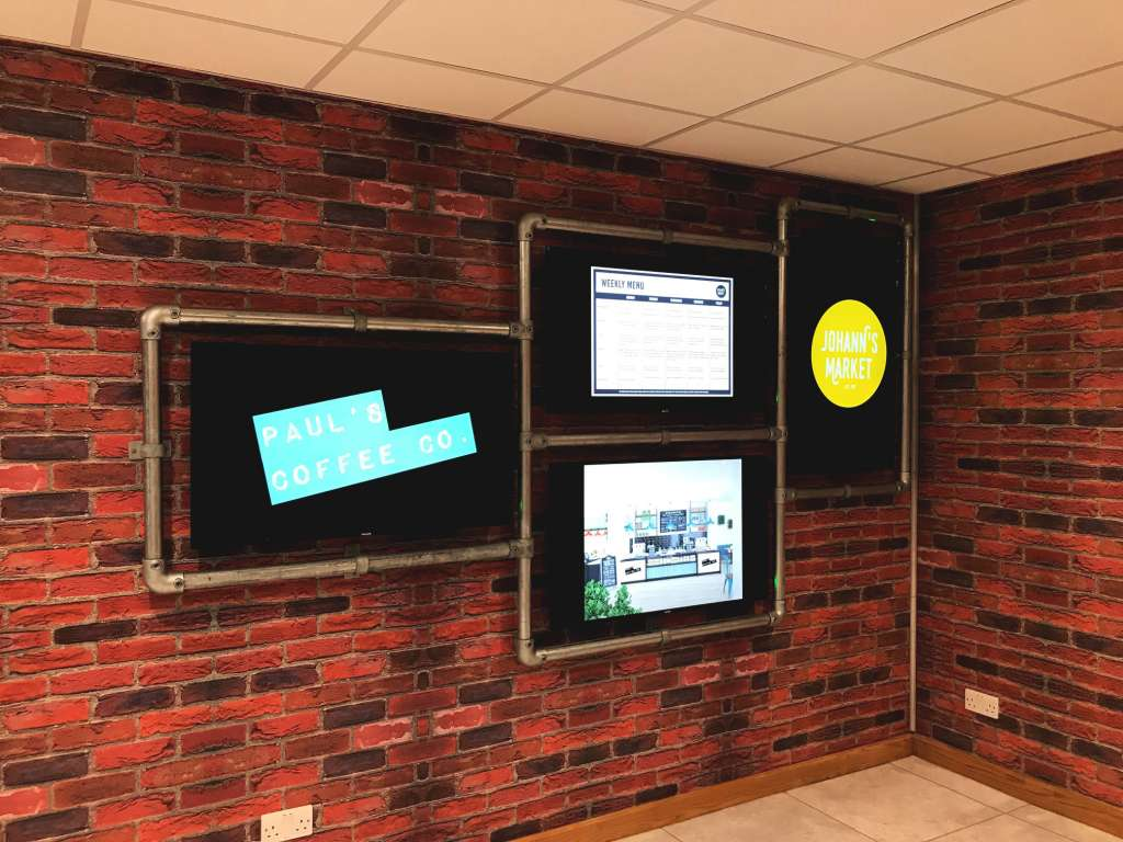 Digital Signage Display Cafe
