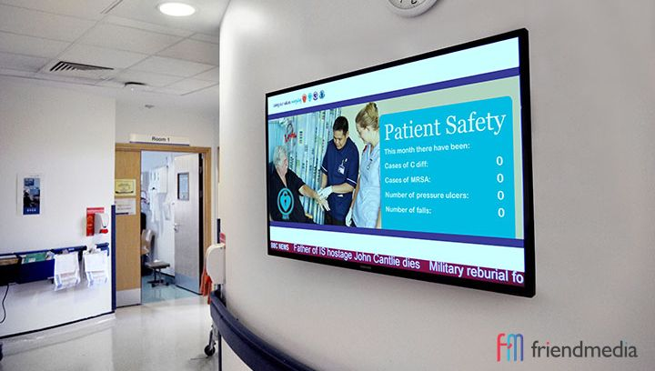 Digital sigange for health and safety