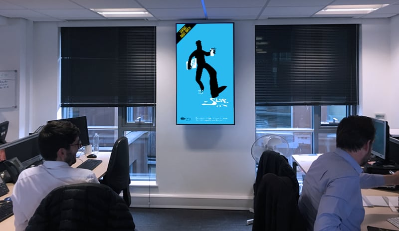 Digital signage for health and safety