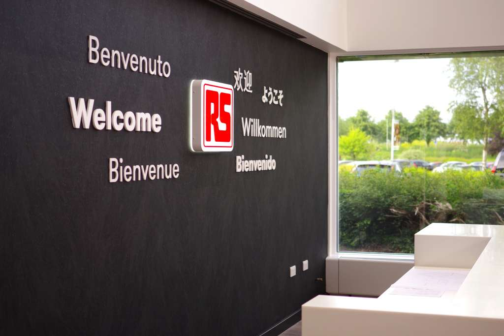 welcome RS Components signage